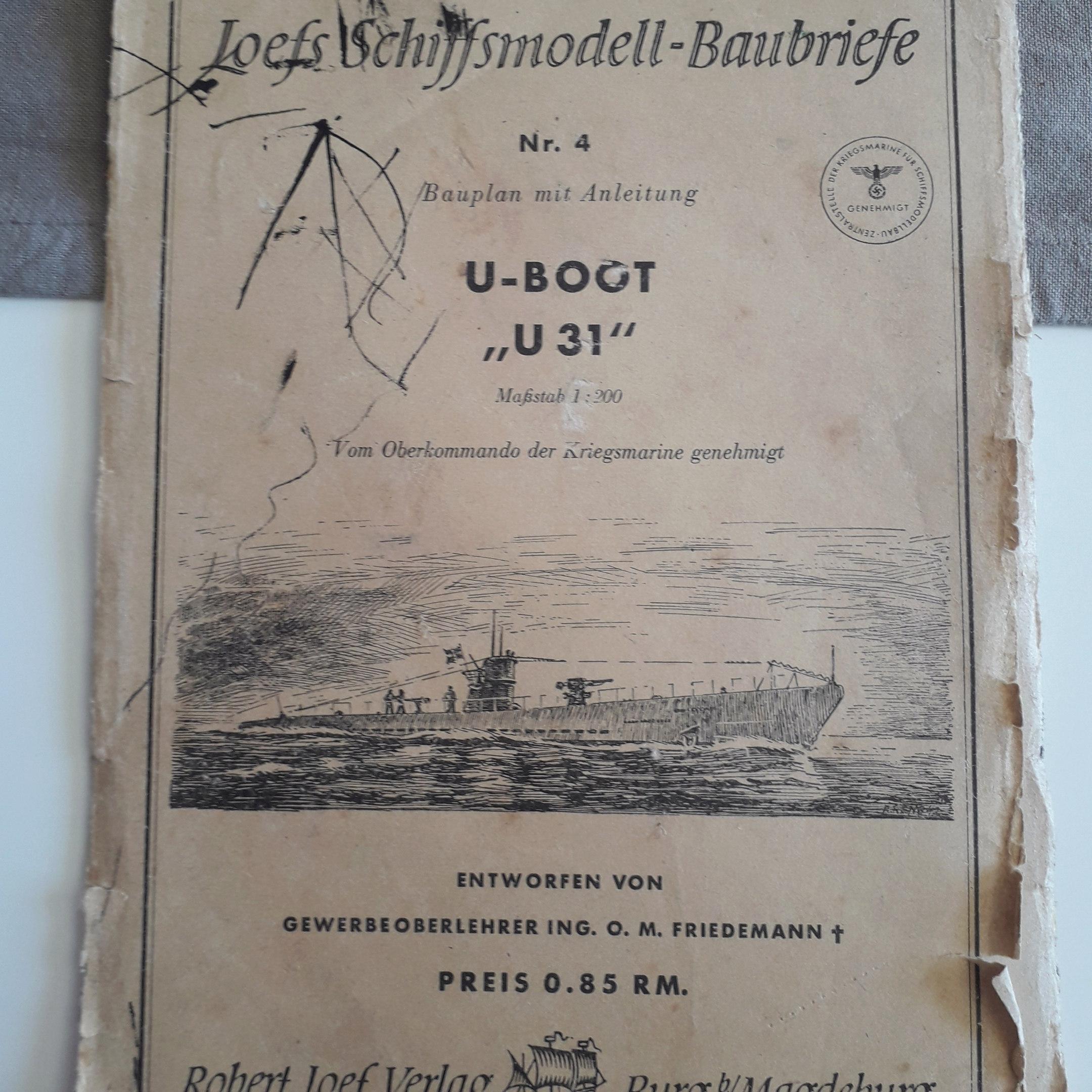 plan maquette U-Boot 1942  20190415