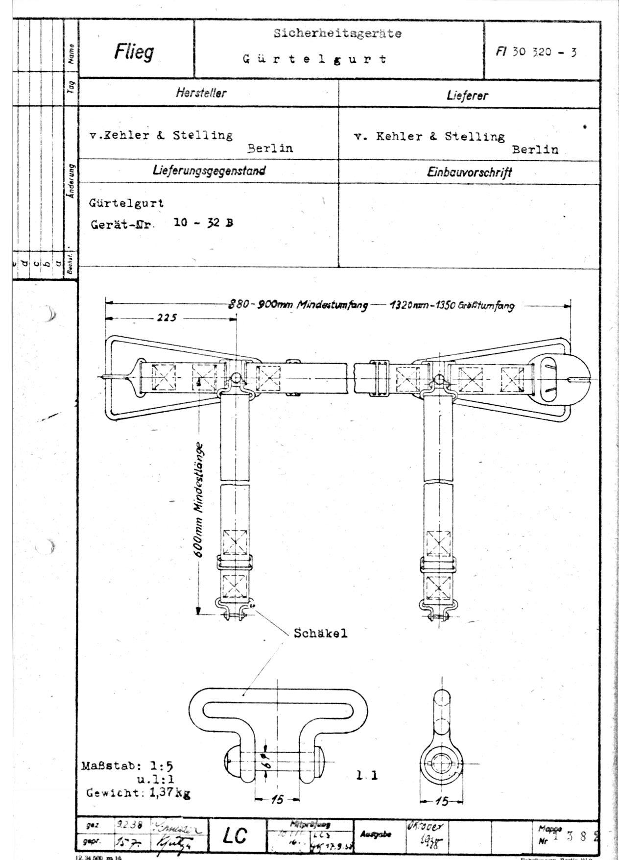 ceinture aviation allemande ww2? Fl203010
