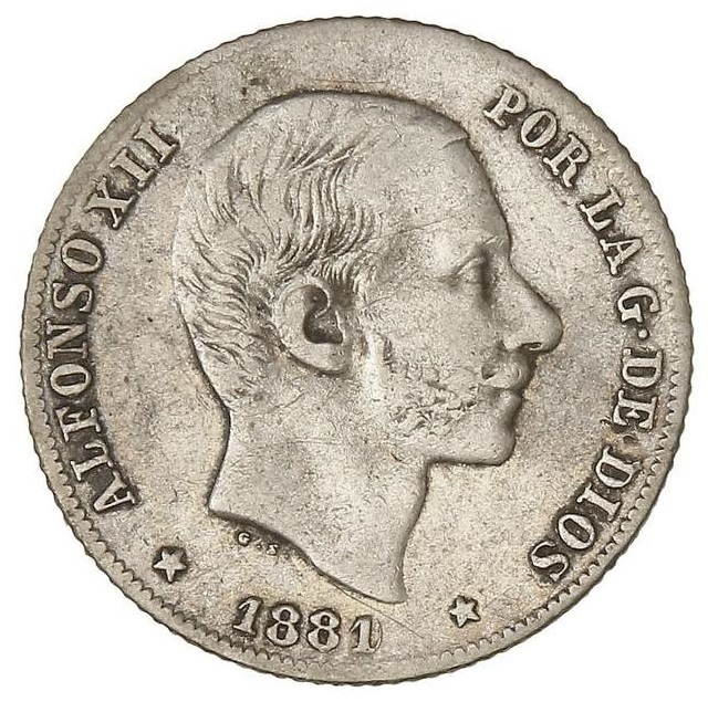 20 centavos de Peso 1881 sobre 1880 0_20pe10