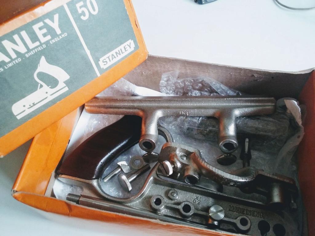 Antiga Plaina Stanley No. 50 - completa com caixa 20181123