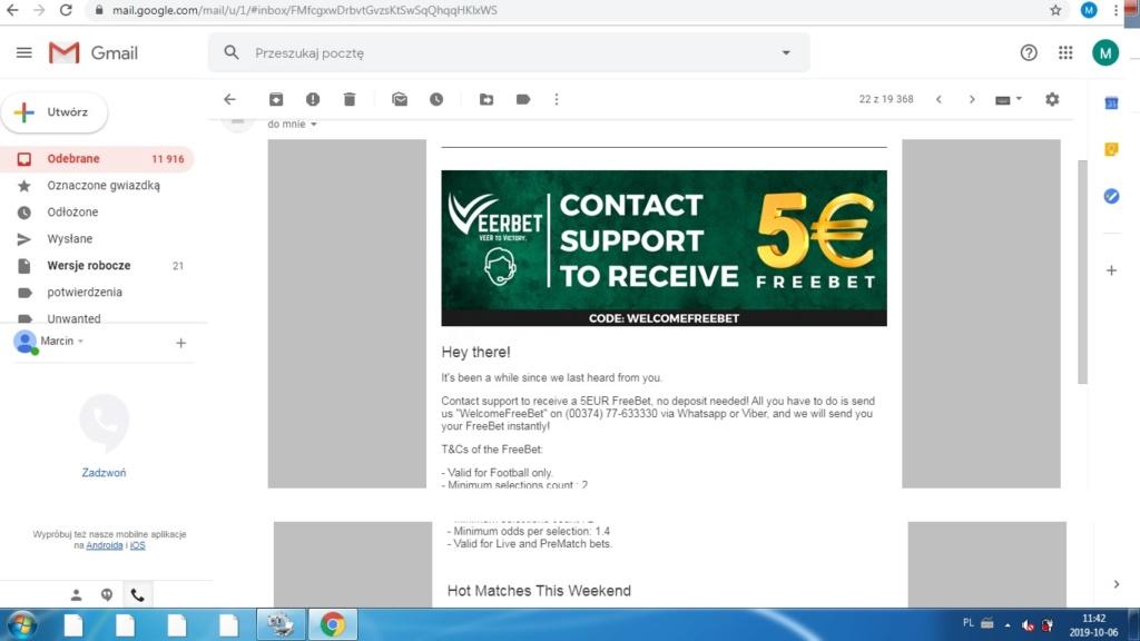 Veerbet 5 euro freebet Verbet10