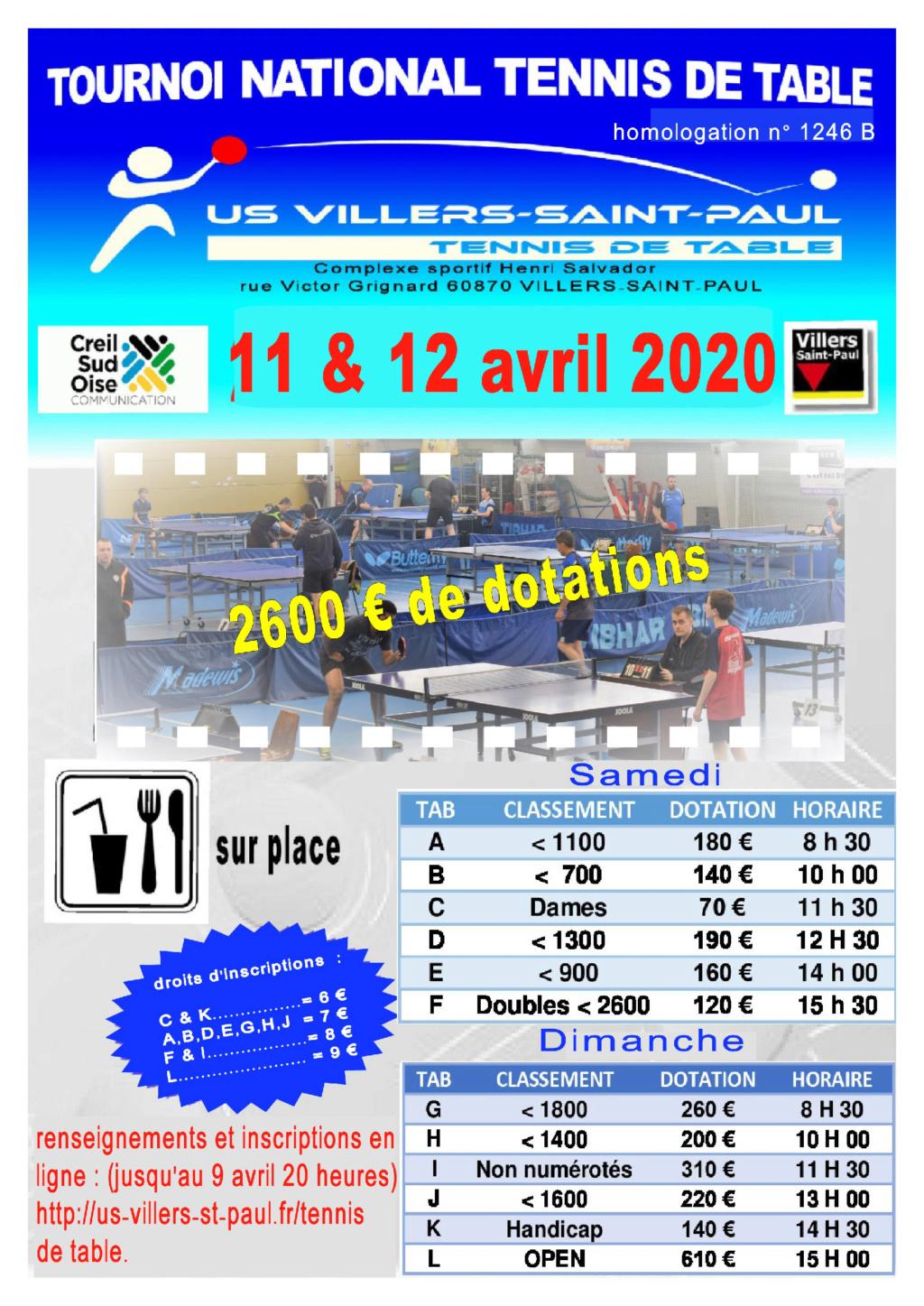 TOURNOI NATIONAL B Villers-St-Paul (oise) 11 & 12 avril 2020 Affich19