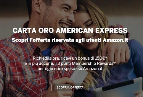 CARTA ORO AMERICAN EXPRESS regala BUONO AMAZON € 150 [senza scadenza?] Cattur11