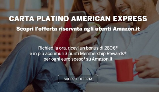 CARTA PLATINO AMERICAN EXPRESS regala BUONO AMAZON € 280 [senza scadenza?] Cattur12