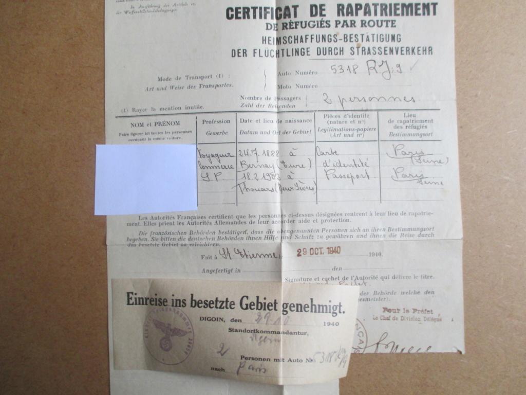 Certificat de rapatriement de réfugiés par route Img_1939