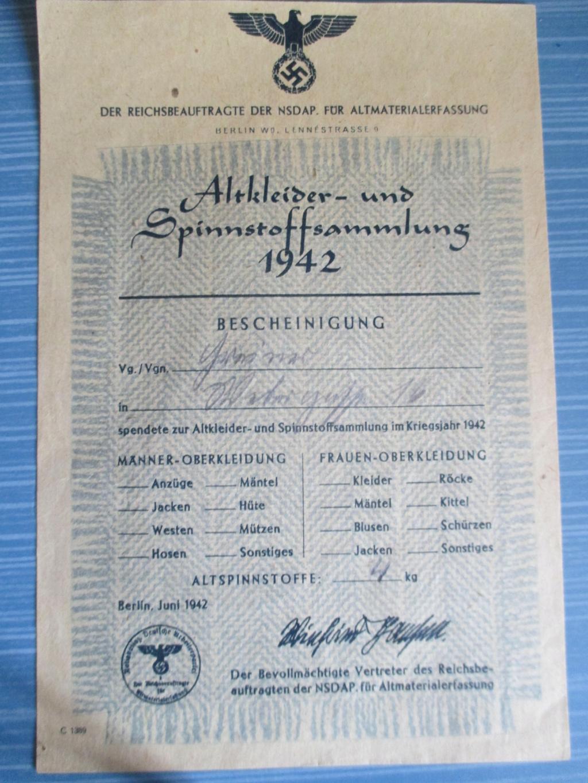 Bon de collecte allemand 1942 Img_3411