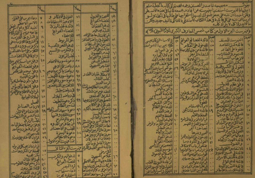 مخطوط شمس المعارف الكبري نسخه خاصه  A_210