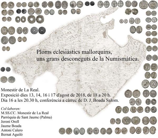 Exposición de Plomos eclesiásticos en el Monasterio de la Real de Mallorca Numis610