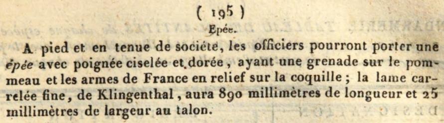 Le point sur les épées  de gendarmerie : épées d'officier 1819-110