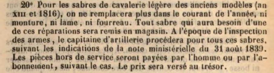 Mystérieux sabre 1816 18500310