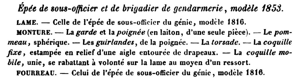 Le point sur les épées de gendarmerie : épées de sous-officier 185311