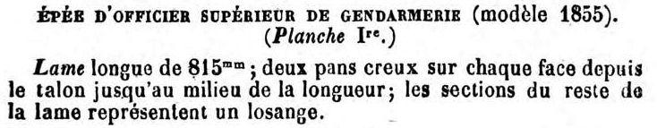 Le point sur les épées  de gendarmerie : épées d'officier 1857-111