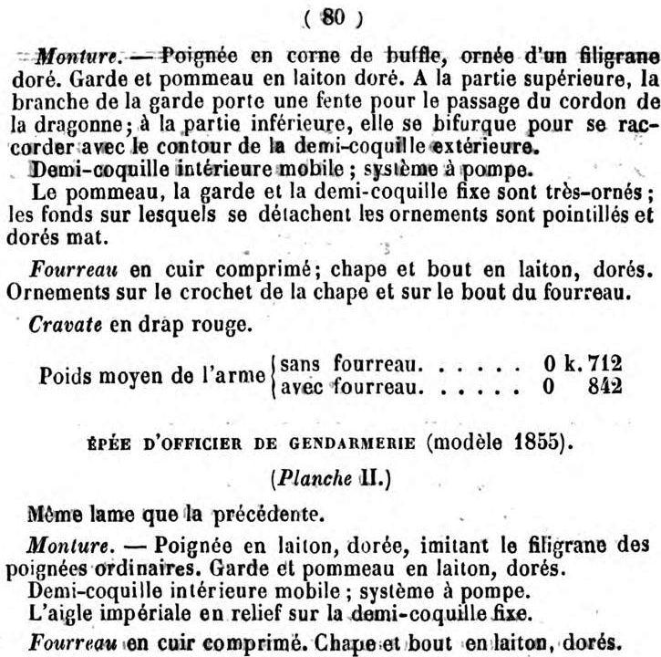 Le point sur les épées  de gendarmerie : épées d'officier 1857-112