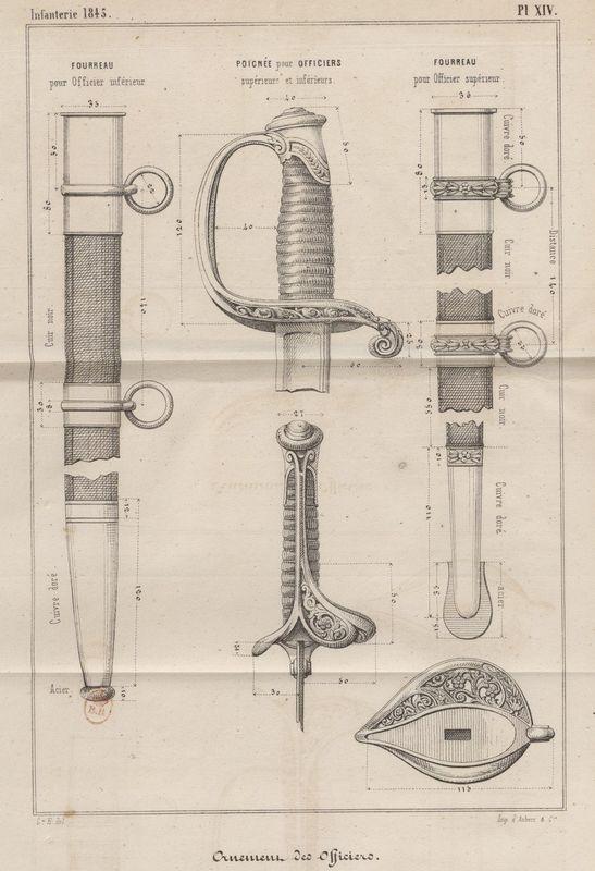 Sabre d'officier supérieur d'infanterie modèle 1845 Guide_10