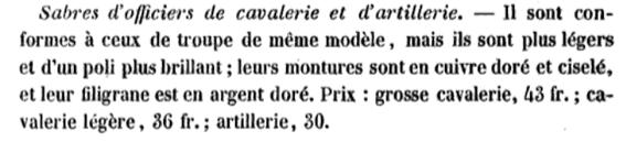 Sabre d'officier d'artillerie modèle 1829 : réglementaire ? Sans_t10