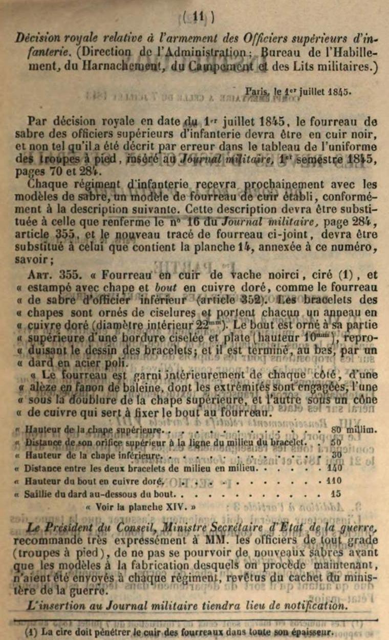 Sabre d'officier supérieur d'infanterie modèle 1845 - Page 3 Wasser12