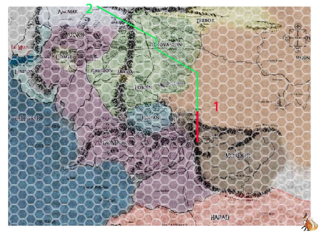 Un voyage plus long que prévu [Minas Morgul -> Nalo-Zaï= 23 cases / Air = 3J Voyage10