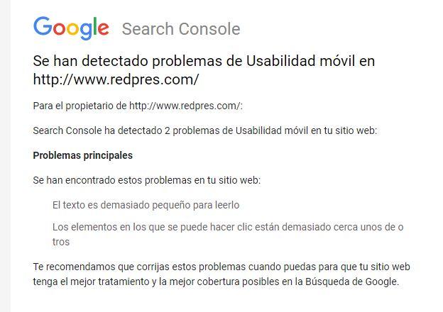 Cómo aumentar tamaño de letra en versión móvil: Google Search Console lo pide Aviso10