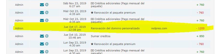 Mi dominio ha dejado de funcionar aun cuando estaba pago por un año desde octubre[#16573] Captur14