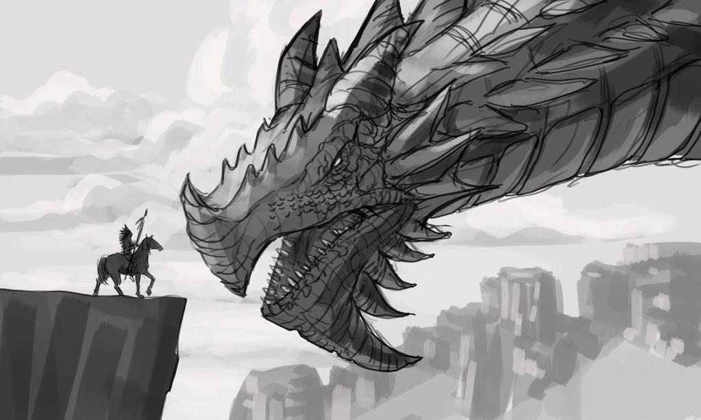 Croquis, WIP & Cie - Page 3 Dragon19