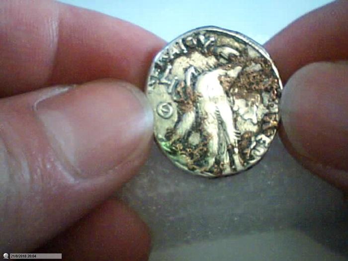 Etrange métal fondu sur monnaie argent Pictur22