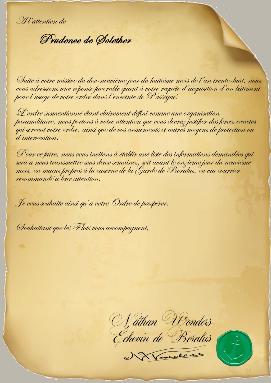 Correspondance Prudence de Solether Justif10