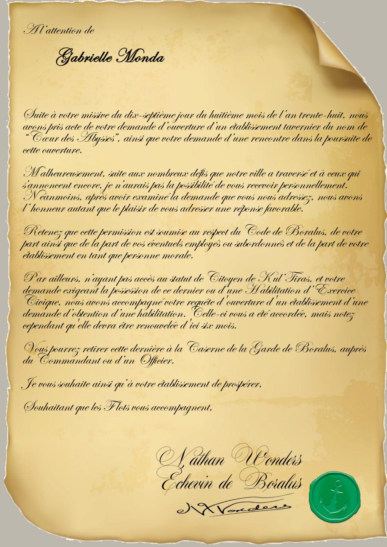 Correspondance Gabrielle Monda Reapon10