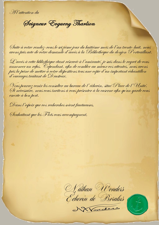 Correspondance Evgueny Tharlson Repons16