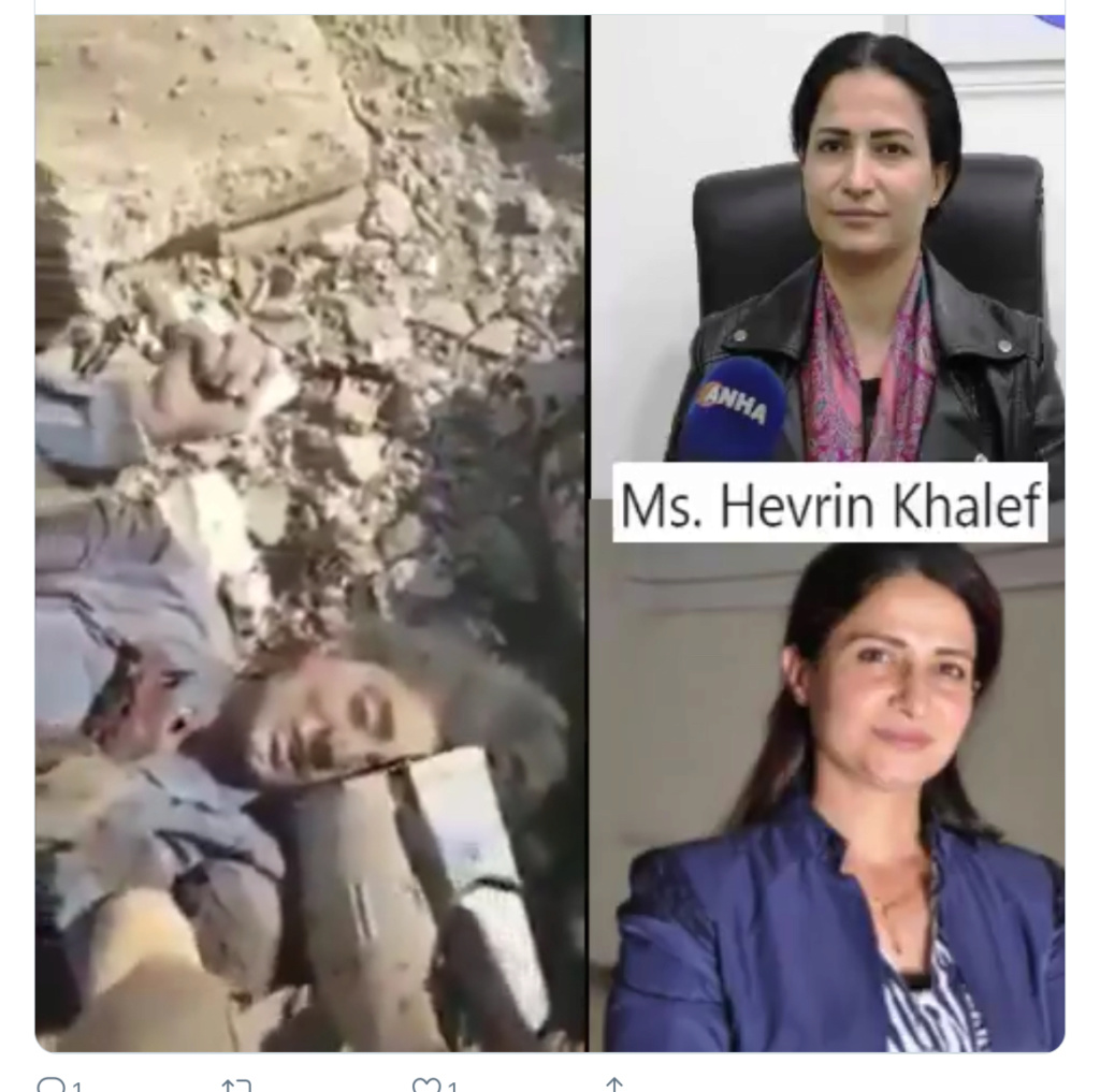 Secretary General of Future Syria Party Hefrin Khalaf martyred 010ade10