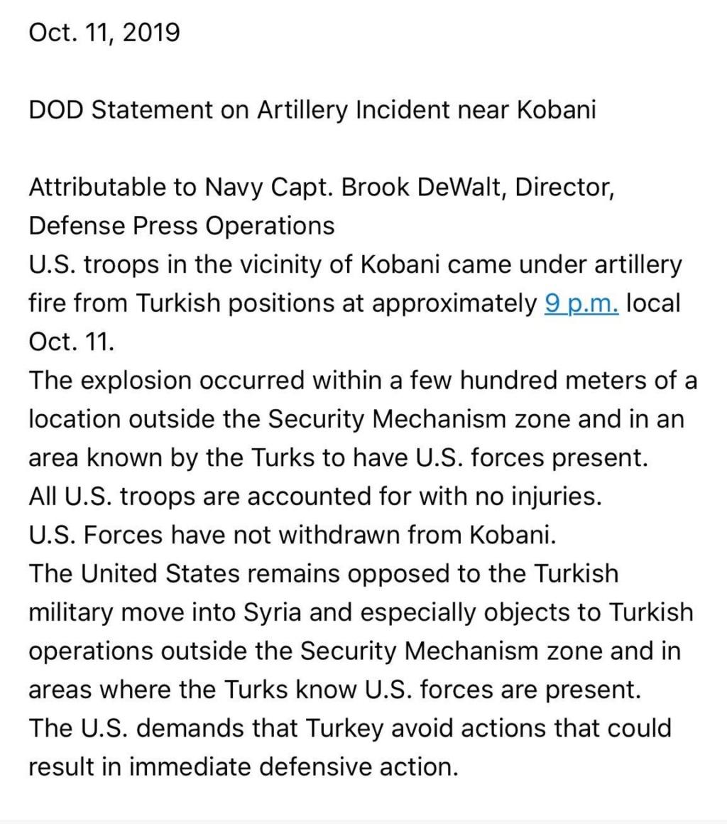 Pentagon: Turska je napala neposrednu blizinu naše baze, ne mislimo se povući  Egoqbd10