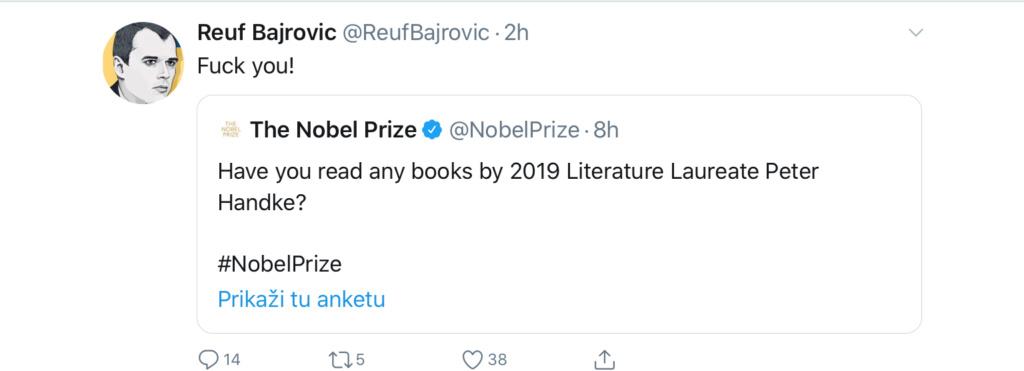 Nobelova za Handkea, zgražavanje u Sarajevu i na Kosovu - Page 2 F0f62110