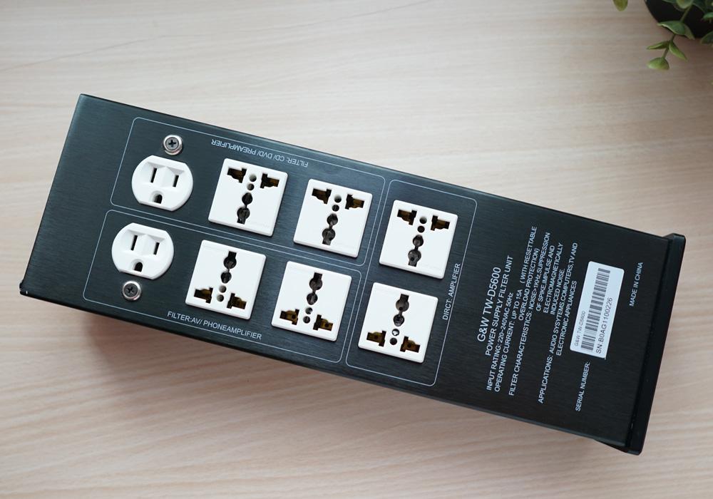 G&W TW-D5600 Hifi Audio Pure AC Power Filter Socket Gw_0310