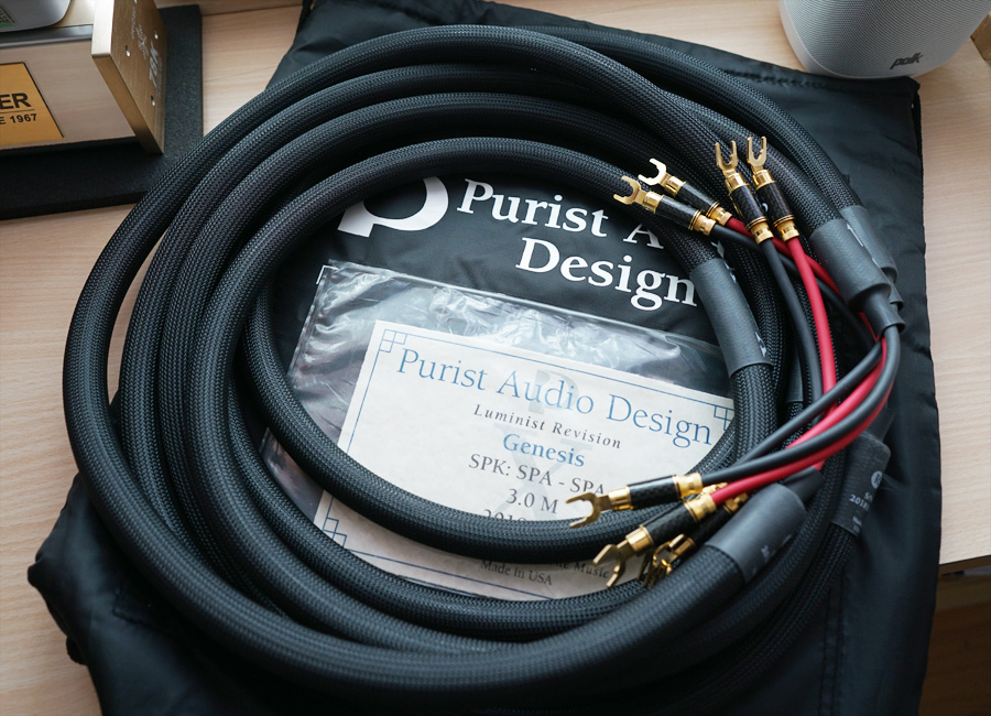 [SOLD] PAD - Purist Audio Design - Genesis - Luminist Revision Speaker Cable (3meter / Spade to Spade) Padg_011