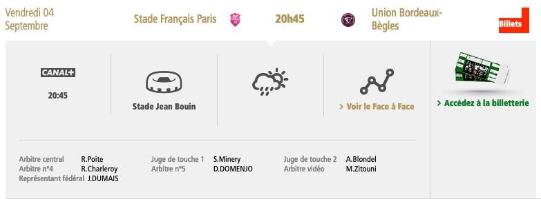 Top14 - 1ère journée : Stade Français / UBB Capt1144