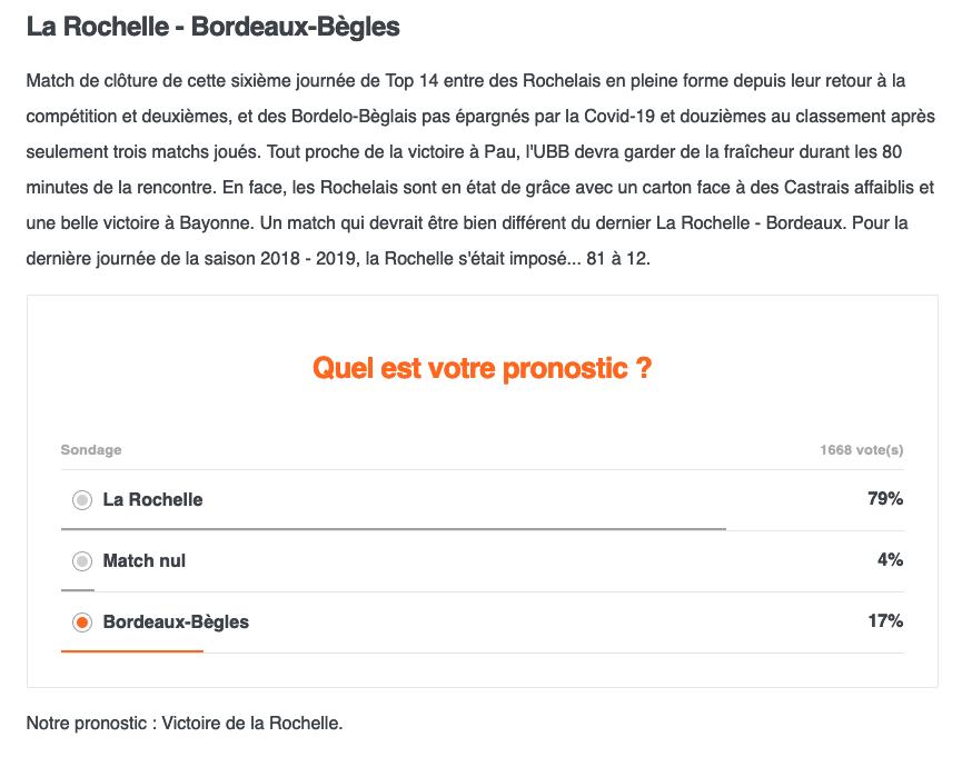 Top14 - 6ème journée : LA ROCHELLE / UBB Capt1307