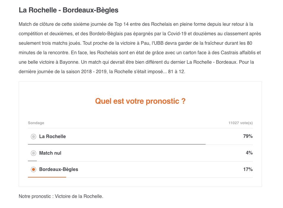 Top14 - 6ème journée : LA ROCHELLE / UBB Capt1311