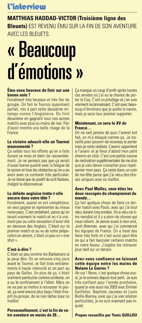 Equipes de France Jeunes - Page 13 Capt1401