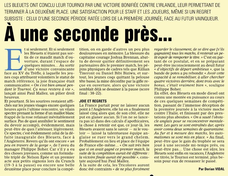 Equipes de France Jeunes - Page 13 Capt1402
