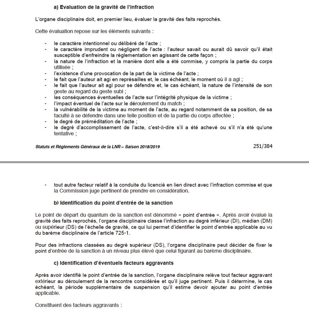 barème des sanctions Captu430