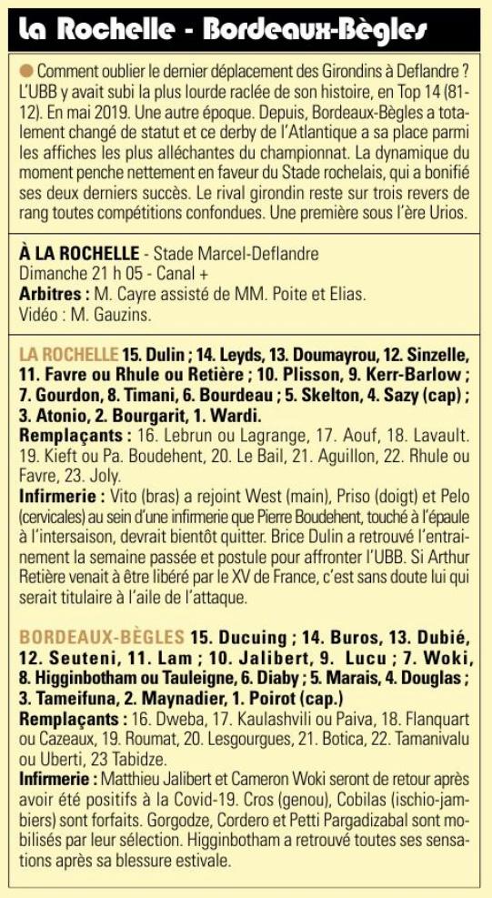 Top14 - 6ème journée : LA ROCHELLE / UBB Captu748