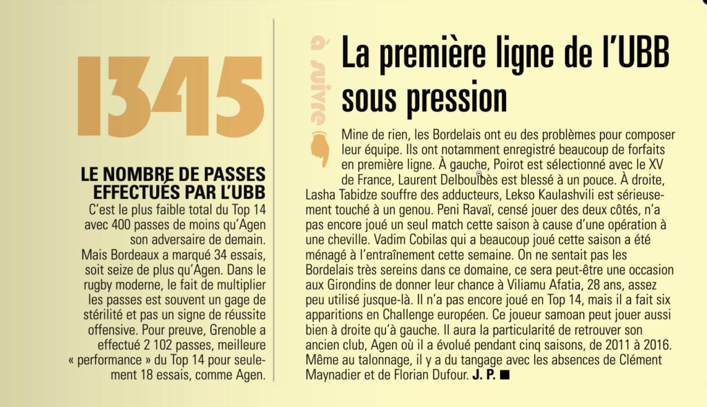 Top14 - 15ème journée : UBB / Agen - Page 3 Captur18