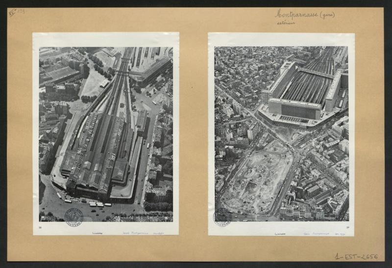 Gare Montparnasse époque 44 vue du ciel Ark_7310