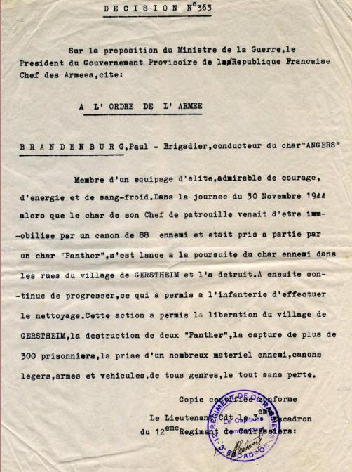 combat d'OBENHEIM / GERSTHEIM fin novembre 1944 Brande10