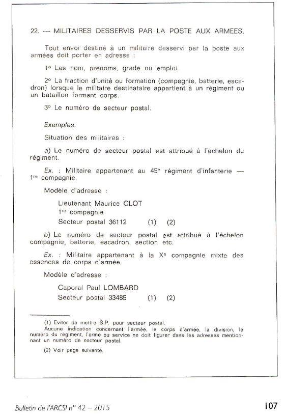 501e RCC : secteur postal en 1944 Sp10