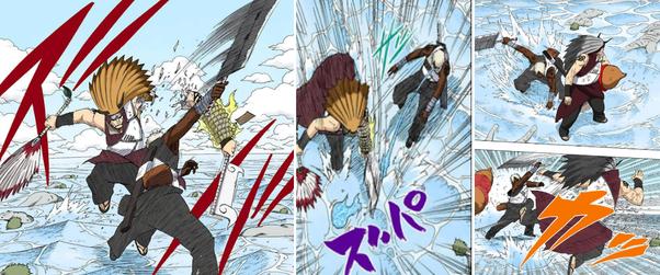 Kiba e Shino vs Darui e Kurotsuchi  Darui10