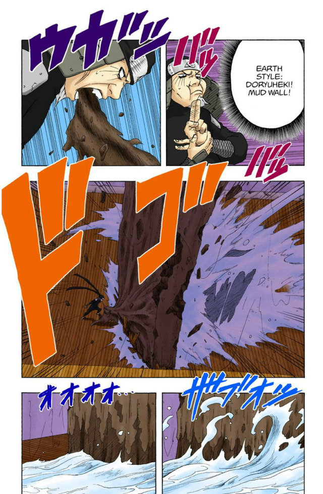 Mei, Chojuro e Zabuza vs Darui, Kurotsuchi e Yamato Hiruze20