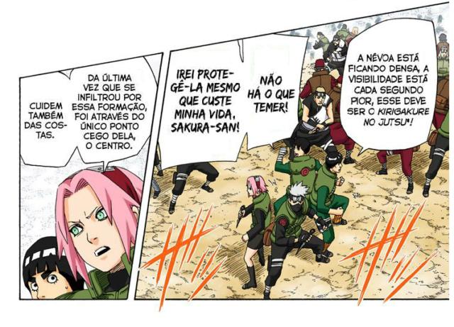 Mei, Chojuro e Zabuza vs Darui, Kurotsuchi e Yamato Kiriga15