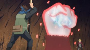 Hiashi vs Asuma e Konohamaru Monkey10
