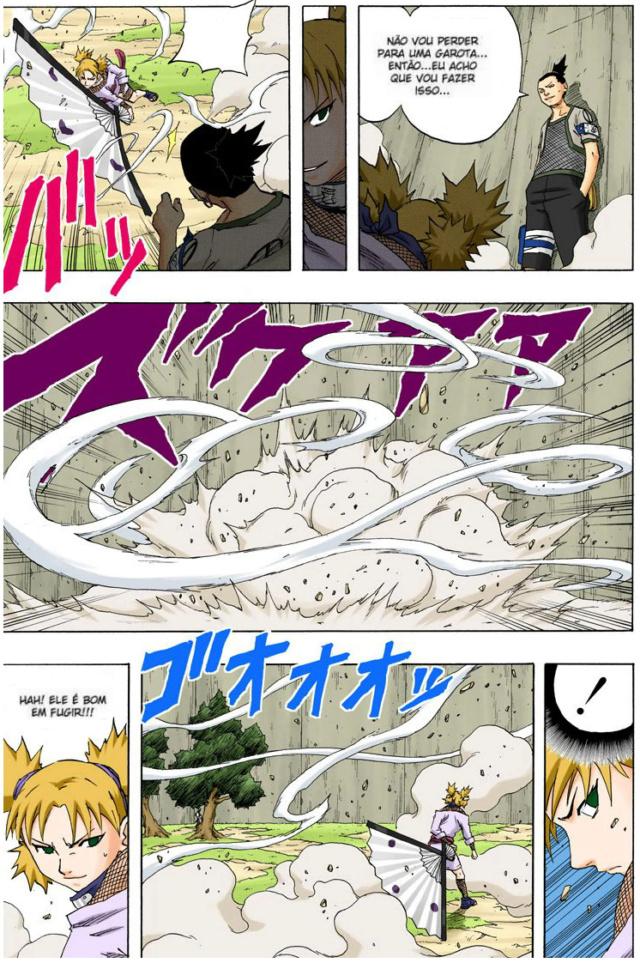 Temari vs Choujuro e Kurotsuchi (Kages) Temari15