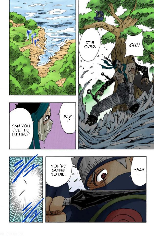 Mei, Chojuro e Zabuza vs Darui, Kurotsuchi e Yamato Zabuza16